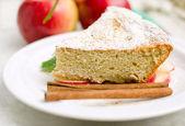 Sponge cake with apples — Stock Photo