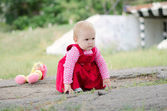 Brooding baby girl — Stock Photo