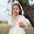 Girl with apples — Foto de Stock