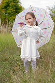Girl with Umbrella — Stockfoto