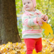 Beautiful baby in the woods — Stock Photo