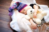 спящая девочка — Стоковое фото