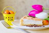 Beautiful piece of cheesecake — Stock Photo