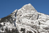 Checrouit seen from Courmayeur, Aosta Valley, Italy — Stock Photo