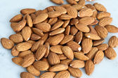 Background of almonds — 图库照片