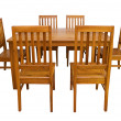 Dining table and chairs isolated — Stock Photo #27504149