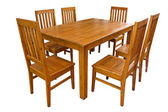 Dining table and chairs isolated — Stock Photo