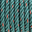 Stock Photo: Green nylon rope