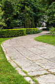 Concrete walkway — Stock Photo