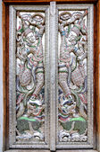 Silver carving doors — Stock Photo