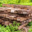 Old wooden sleeper — Stock Photo