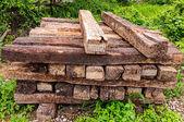 Gamla trä sleeper — Stockfoto