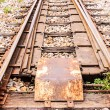 Stock Photo: Junction railway tracks