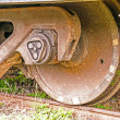 Wheel of  train — Stock Photo