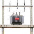 Transformer on high power station — Stock Photo
