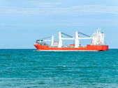 Empty cargo ship — Stockfoto