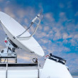 Satellite dish on car roof — Stock Photo