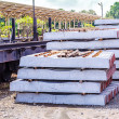 Stack of concrete sleeper — Stock Photo