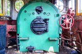 Cabin of vintage steam locomotive — Stock Photo