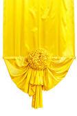 黄色布丝带 — 图库照片