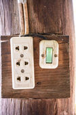 Electrical switch and plug — Stockfoto