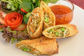 Fried spring rolls food — Stock Photo