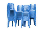 Blue plastic chairs  — Stock Photo