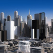 Modern cityscape in daylight. Close up view. — Stockfoto