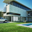 Stock Photo: Modern luxury villa with swimming pool.