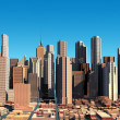 Modern cityscape in daylight. Close up view. — Stock Photo