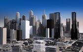 Moderne stadsgezicht in daglicht. close-up. — Stockfoto