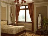 Classic antique style bedroom. — Stock Photo