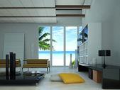 Modern livingroom interior — Stock Photo