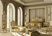 Luxury rococo bedroom — Stock Photo