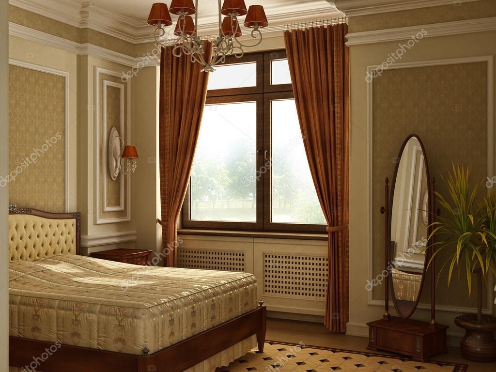 Camera da letto stile classico antico foto stock - Camera da letto stile classico ...