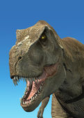 Photorealistic 3 D rendering of a Tyrannosaurus Rex. — Stock Photo