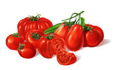 Composition of Different red Tomatoes types grouped. — Stock Photo