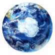 Earth globe, realistic 3 D rendering, with some clouds. — Stock Photo #25792265