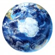 Earth globe, realistic 3 D rendering, with some clouds. — Stock Photo