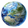Planet earth with some clouds. Europe view. — Stockfoto #25792559