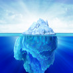 Iceberg solitary in the sea. — Stock Photo