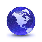 Earth globe stylized, in blue color — Stock Photo