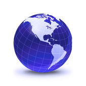 Earth globe stylized, in blue color — Foto Stock