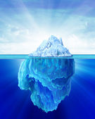 Iceberg solitary in the sea. — Stock Photo