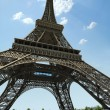Stock Photo: Eiffel Tower, dramatic view from below.