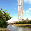 torneado torso rascacielos vista durante el día — Foto de Stock