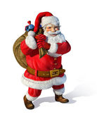 Santaclaus standing with bag behind his shoulders — Stock Photo