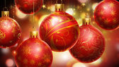 Christmass red and yellow abstract background — Stock Photo