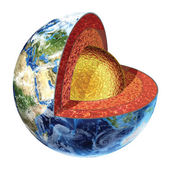 Earth cross section. Outer core version. — Stock Photo