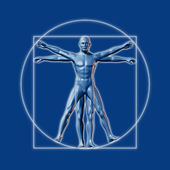 Image inspired on Leonardo da Vinci's Vitruvian man — Stock Photo